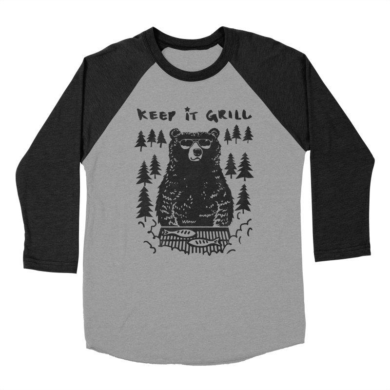 keep It Grill Women's Baseball Triblend T-Shirt by elanharris's Artist Shop