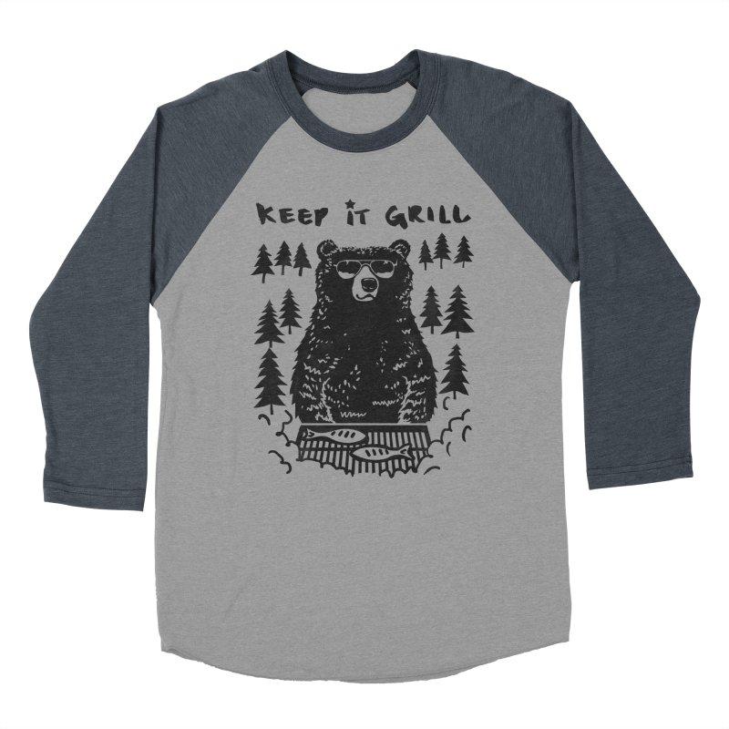 keep It Grill Men's Baseball Triblend T-Shirt by elanharris's Artist Shop