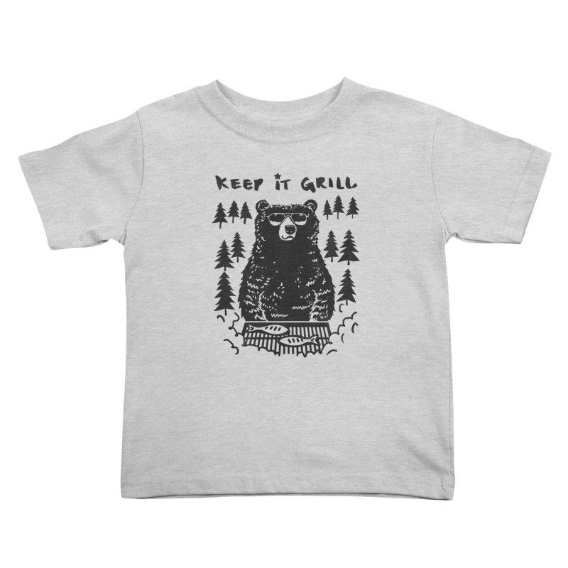 keep It Grill Kids Toddler T-Shirt by elanharris's Artist Shop
