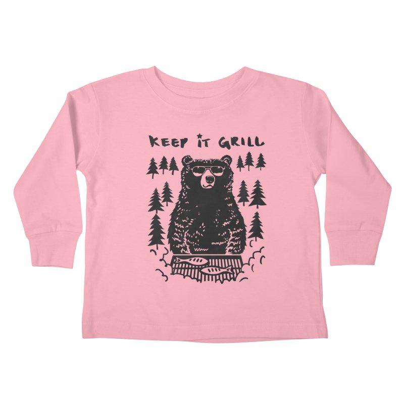 keep It Grill Kids Toddler Longsleeve T-Shirt by elanharris's Artist Shop