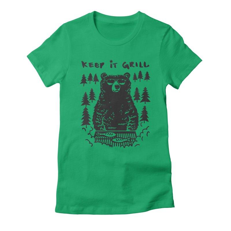 keep It Grill Women's Fitted T-Shirt by elanharris's Artist Shop