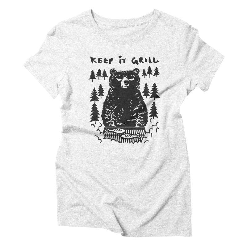 keep It Grill Women's Triblend T-shirt by elanharris's Artist Shop