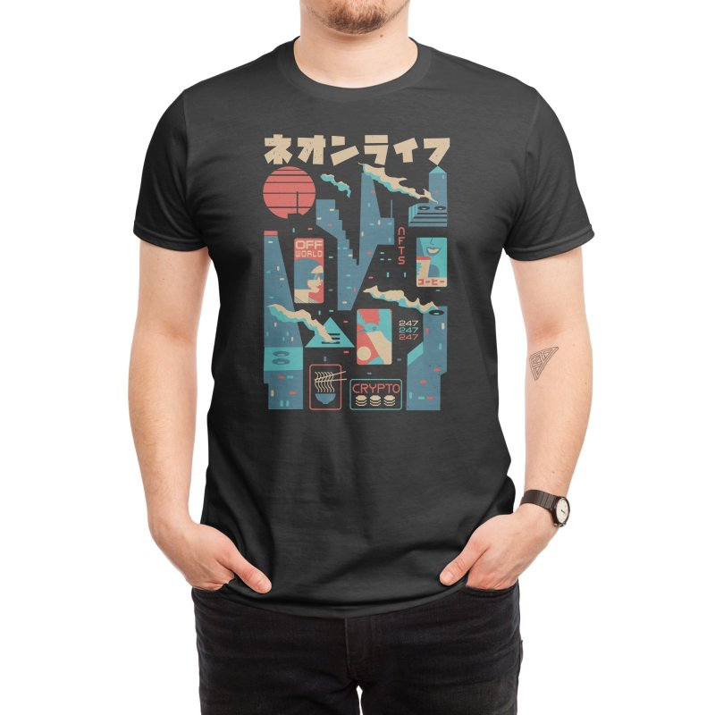 Neon City Men's T-Shirt by elanharris's Artist Shop