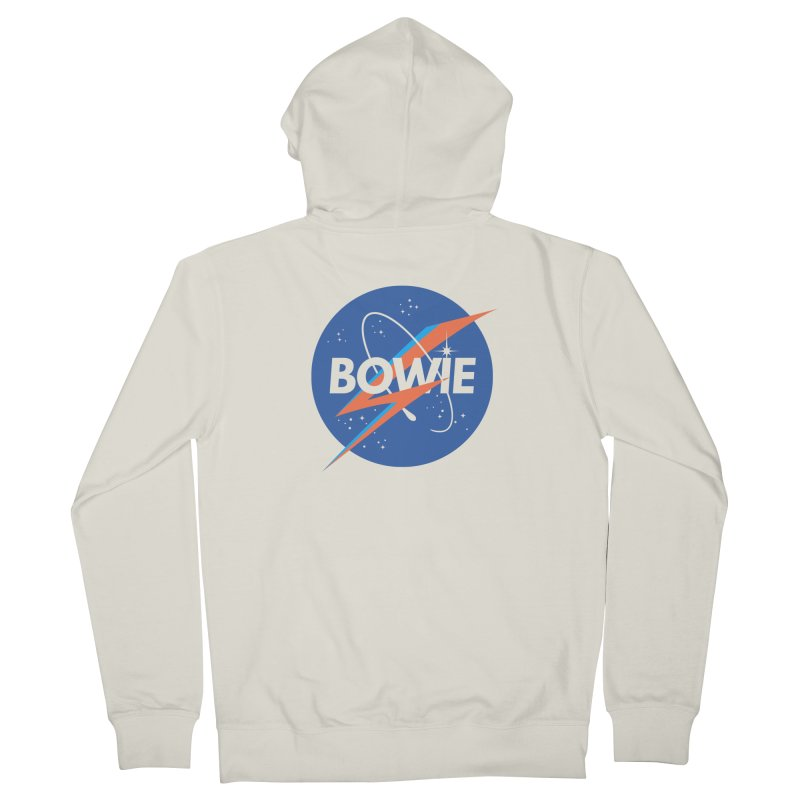Bowie Men's Zip-Up Hoody by elanharris's Artist Shop