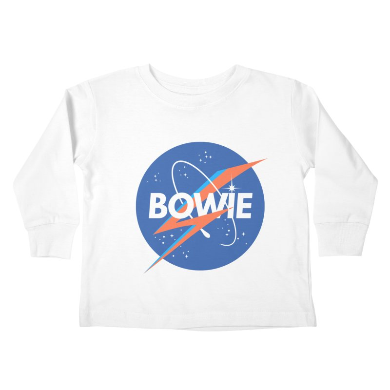 Bowie Kids Toddler Longsleeve T-Shirt by elanharris's Artist Shop
