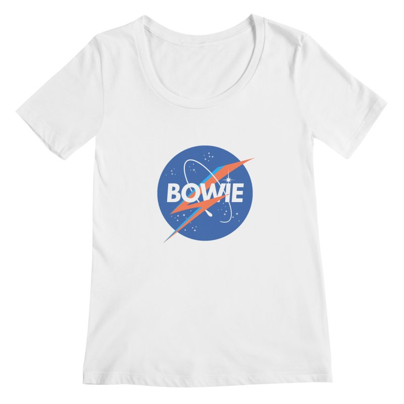 Bowie Women's Scoopneck by elanharris's Artist Shop