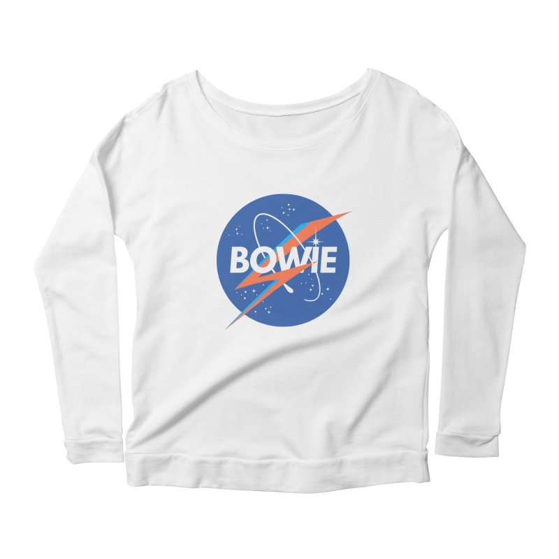 Bowie Women's Longsleeve Scoopneck  by elanharris's Artist Shop