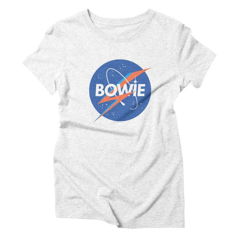 Bowie Women's Triblend T-shirt by elanharris's Artist Shop