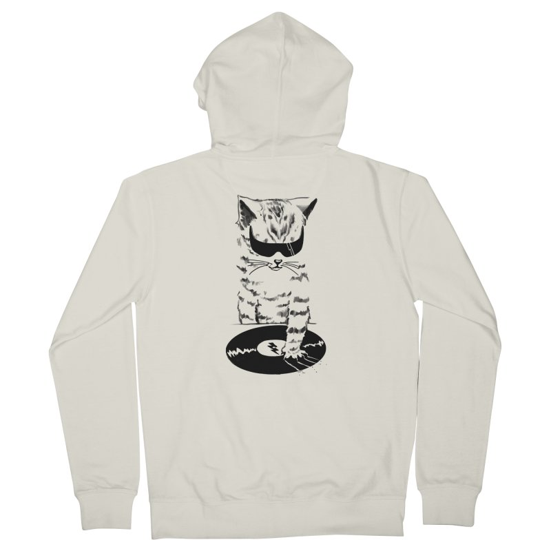 DJ Scratch Men's Zip-Up Hoody by elanharris's Artist Shop