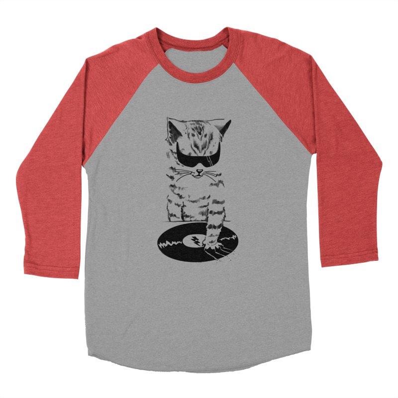 DJ Scratch Men's Baseball Triblend T-Shirt by elanharris's Artist Shop