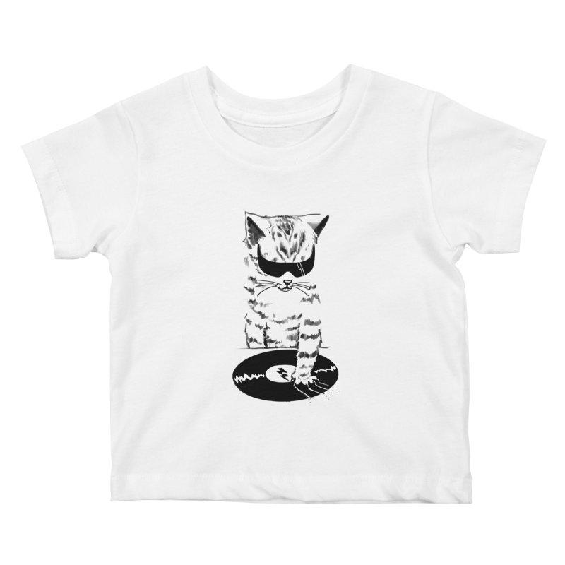 DJ Scratch Kids Baby T-Shirt by elanharris's Artist Shop