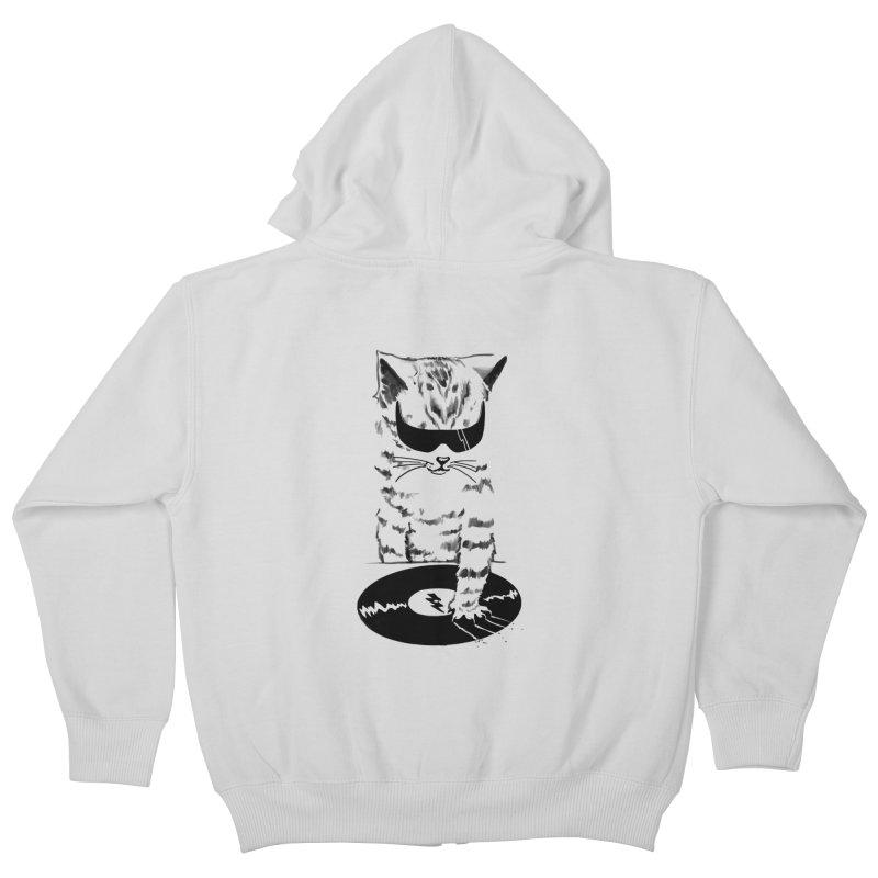 DJ Scratch Kids Zip-Up Hoody by elanharris's Artist Shop