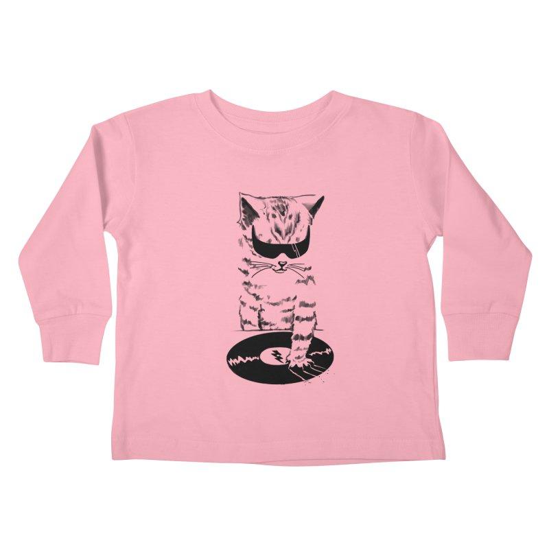 DJ Scratch Kids Toddler Longsleeve T-Shirt by elanharris's Artist Shop