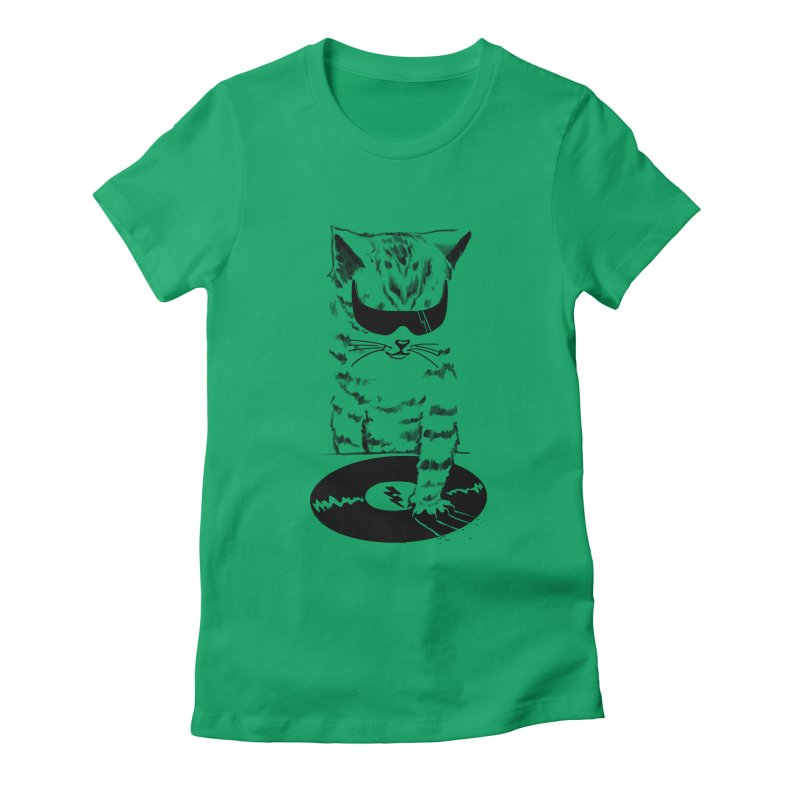 DJ Scratch Women's Fitted T-Shirt by elanharris's Artist Shop