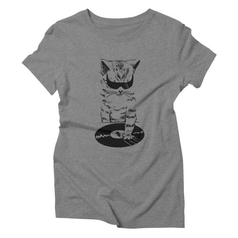 DJ Scratch Women's Triblend T-Shirt by elanharris's Artist Shop