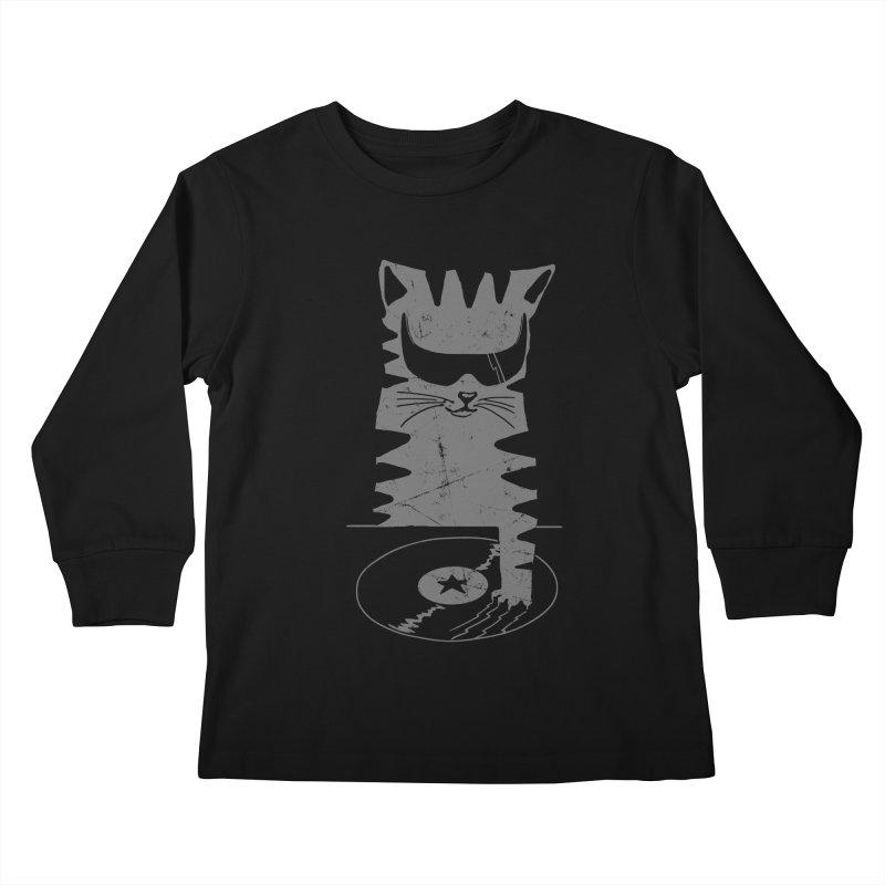 DJ Scratch (the remix) Kids Longsleeve T-Shirt by elanharris's Artist Shop