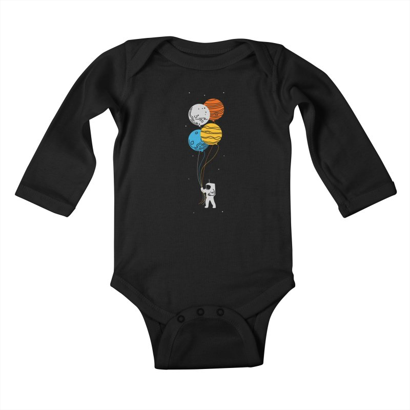 Space Oddity Kids Baby Longsleeve Bodysuit by elanharris's Artist Shop