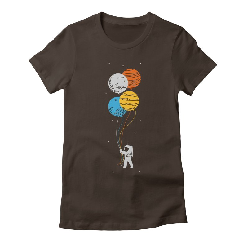 Space Oddity Women's Fitted T-Shirt by elanharris's Artist Shop