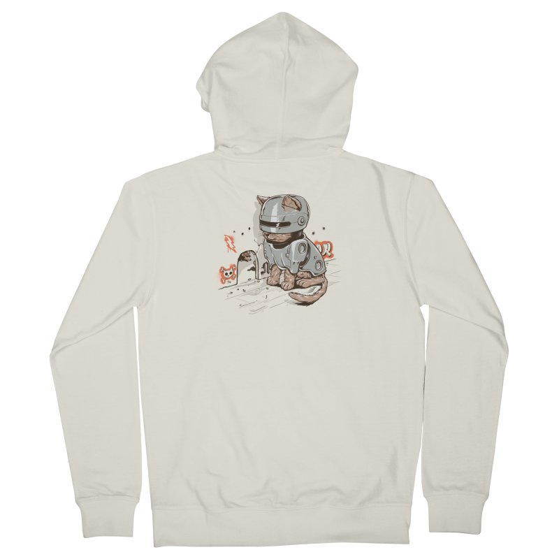 Robocat Men's Zip-Up Hoody by elanharris's Artist Shop