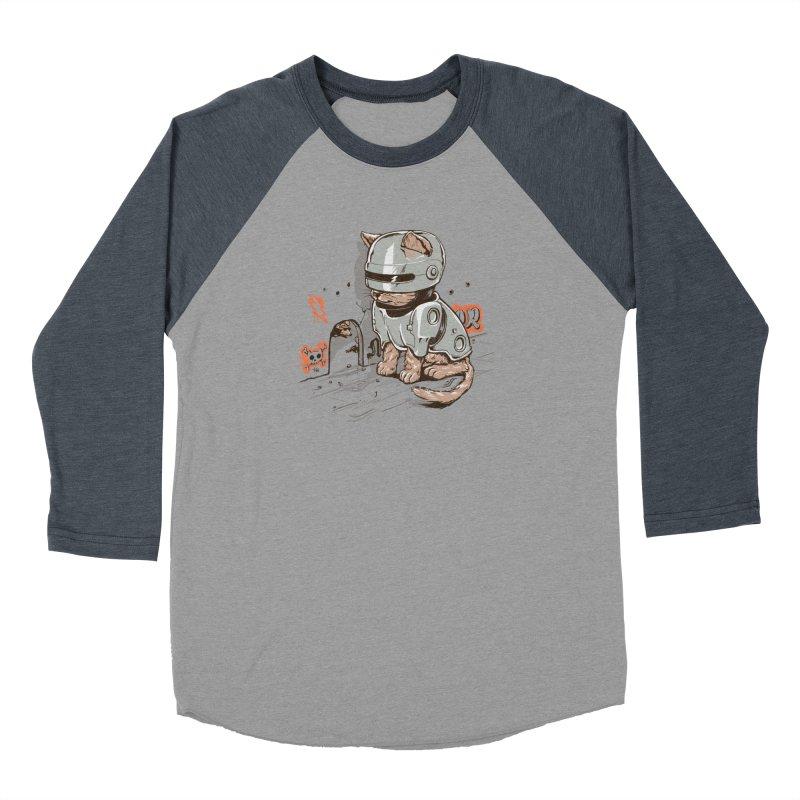 Robocat Women's Baseball Triblend T-Shirt by elanharris's Artist Shop