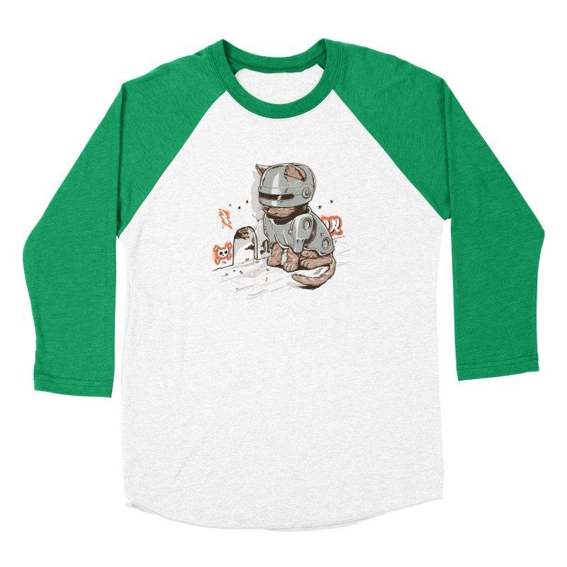 Robocat Men's Baseball Triblend T-Shirt by elanharris's Artist Shop