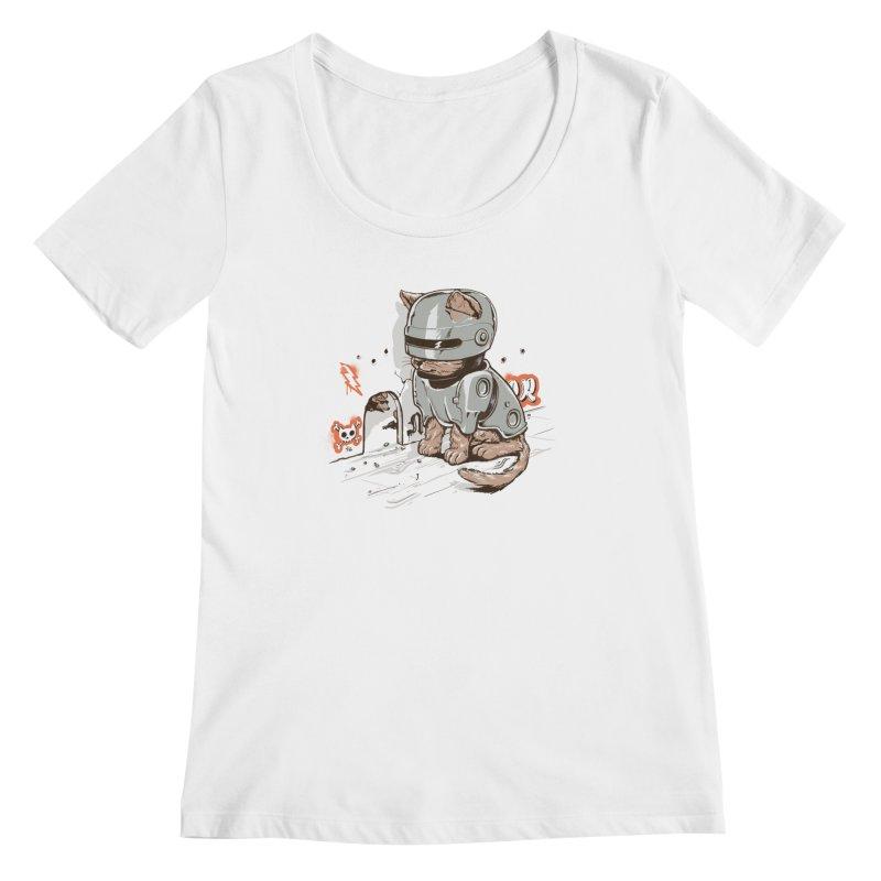 Robocat Women's Scoopneck by elanharris's Artist Shop