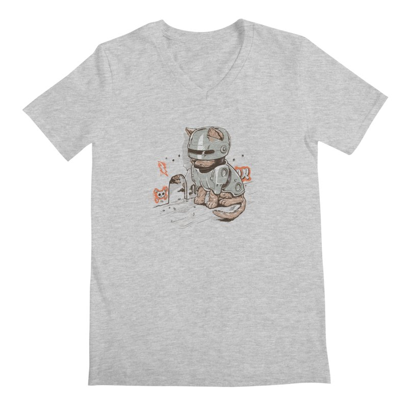 Robocat Men's V-Neck by elanharris's Artist Shop