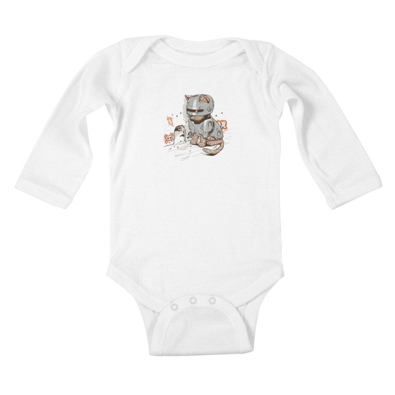 Robocat Kids Baby Longsleeve Bodysuit by elanharris's Artist Shop