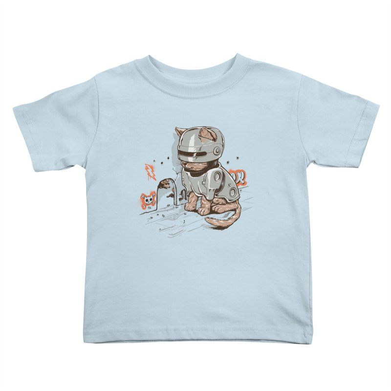 Robocat Kids Toddler T-Shirt by elanharris's Artist Shop