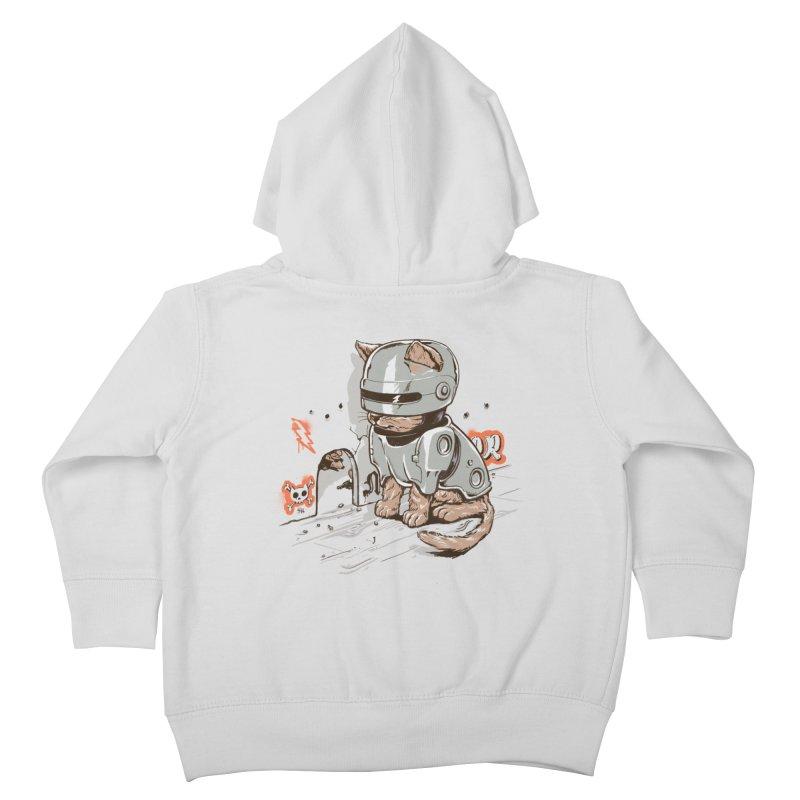 Robocat Kids Toddler Zip-Up Hoody by elanharris's Artist Shop