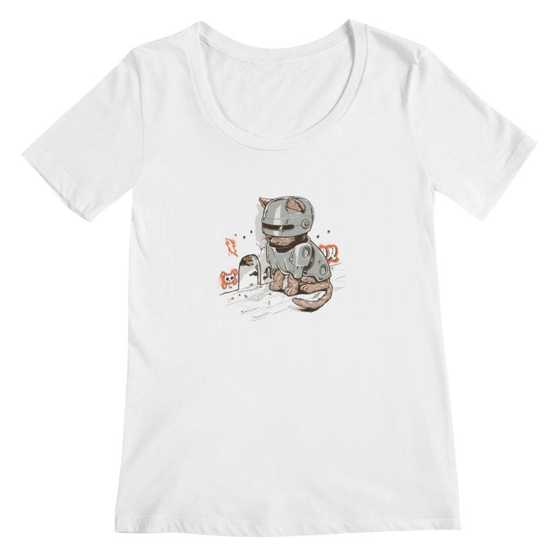 Robocat Women's Scoopneck by elanharris's Artist Shop