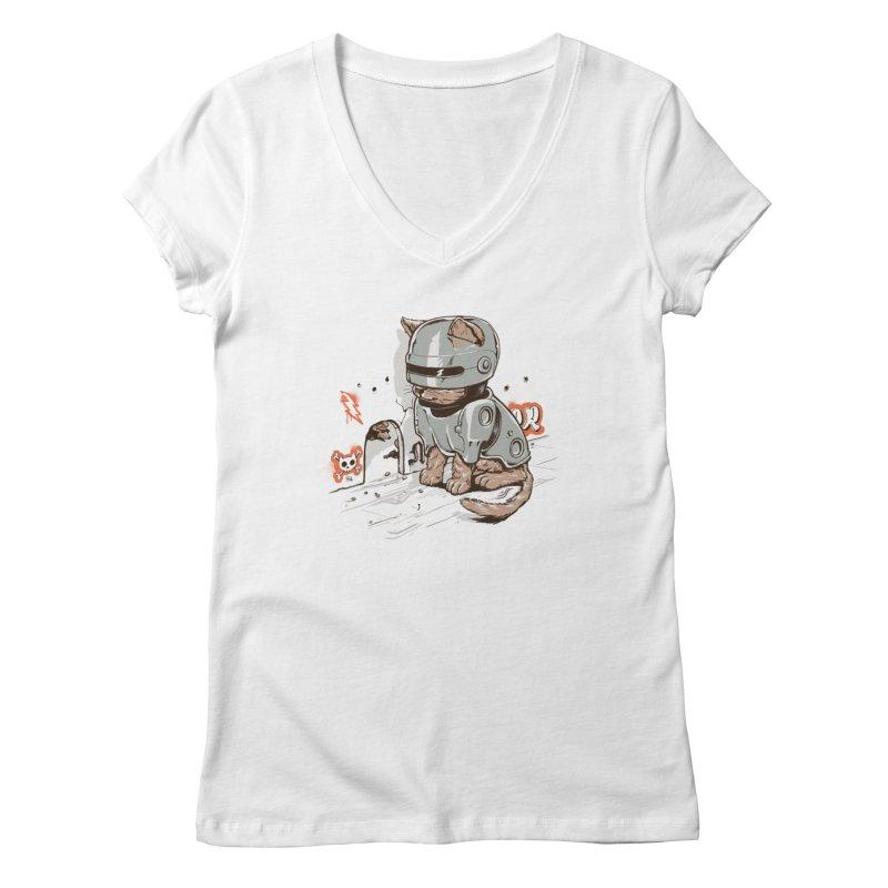 Robocat Women's V-Neck by elanharris's Artist Shop