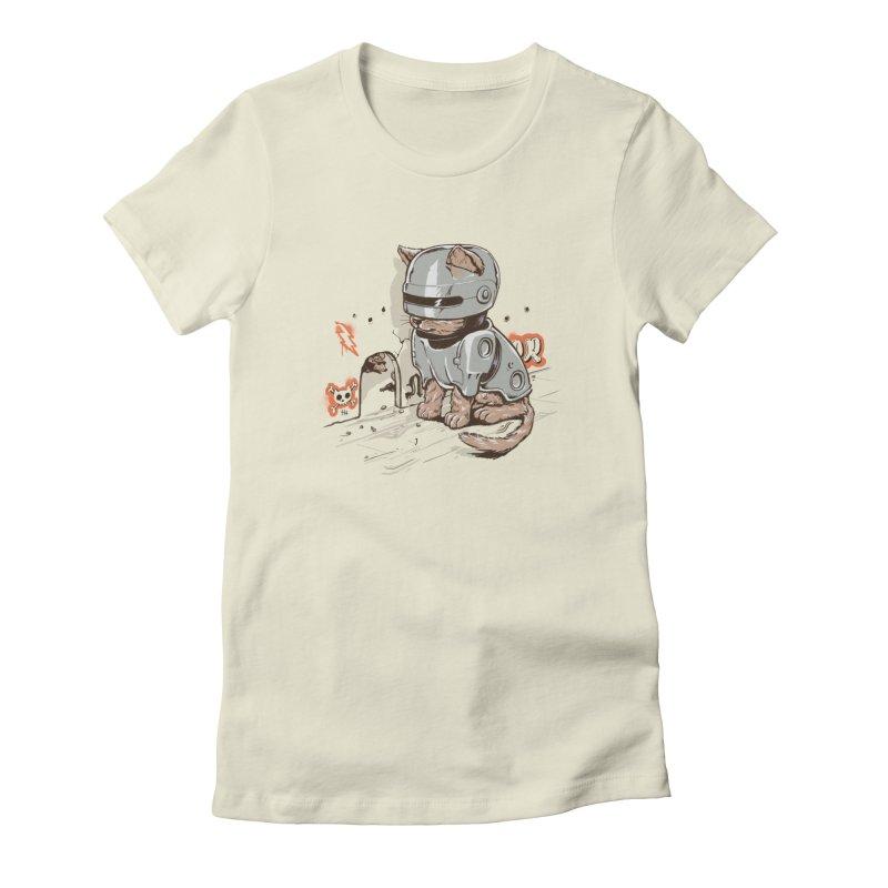 Robocat Women's Fitted T-Shirt by elanharris's Artist Shop
