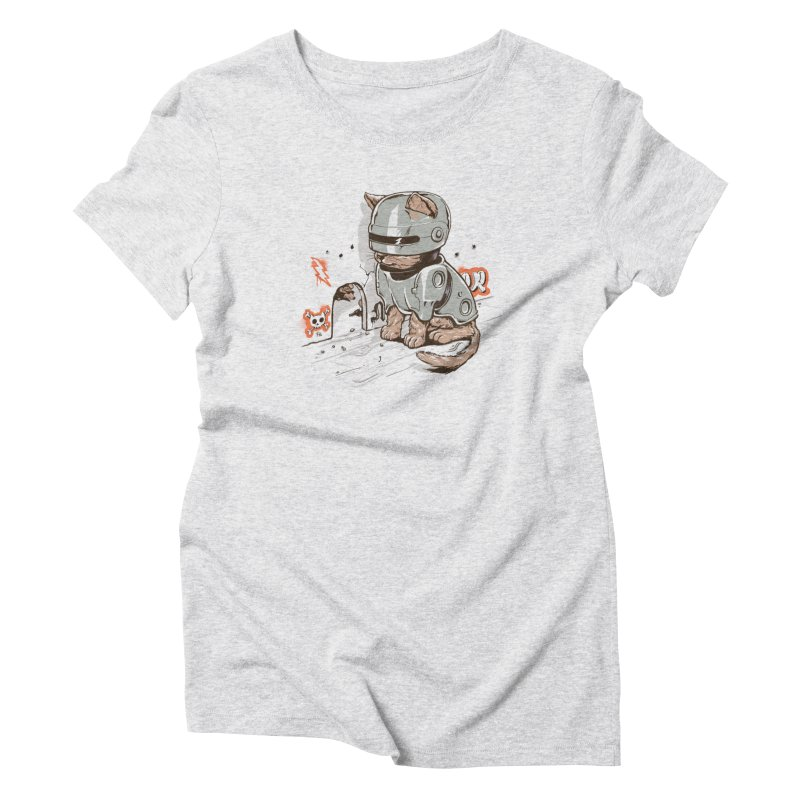 Robocat Women's Triblend T-Shirt by elanharris's Artist Shop