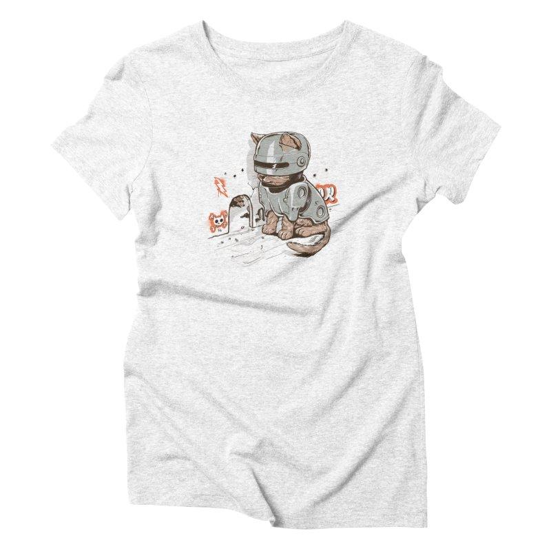 Robocat Women's Triblend T-shirt by elanharris's Artist Shop