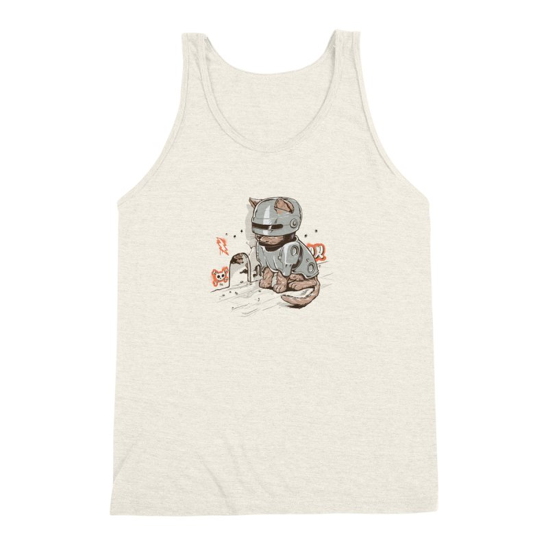 Robocat Men's Triblend Tank by elanharris's Artist Shop