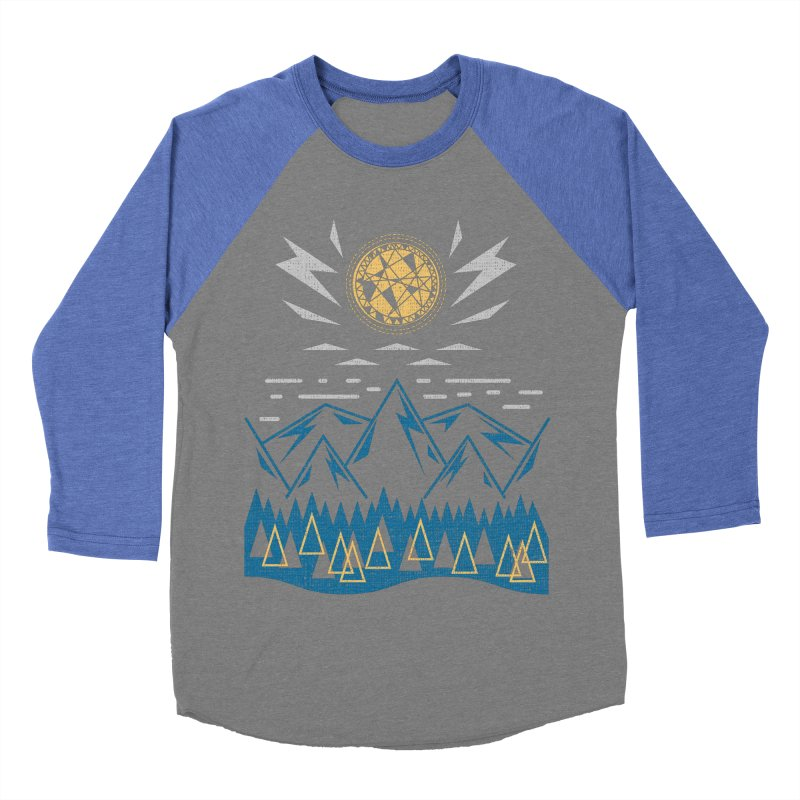 Sun Strike Over the Mountains Men's Baseball Triblend Longsleeve T-Shirt by Elcorette