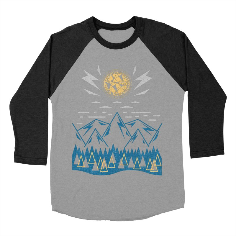 Sun Strike Over the Mountains Men's Baseball Triblend T-Shirt by Elcorette
