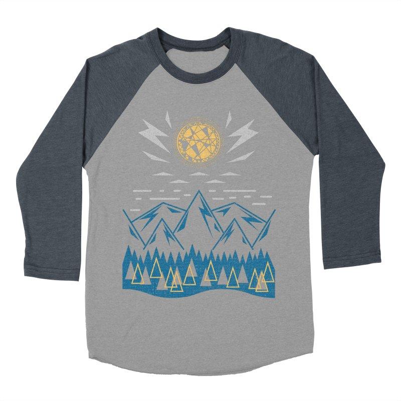 Sun Strike Over the Mountains Men's Baseball Triblend Longsleeve T-Shirt by Elcorette