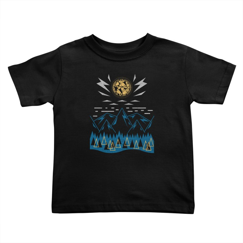 Sun Strike Over the Mountains Kids Toddler T-Shirt by Elcorette