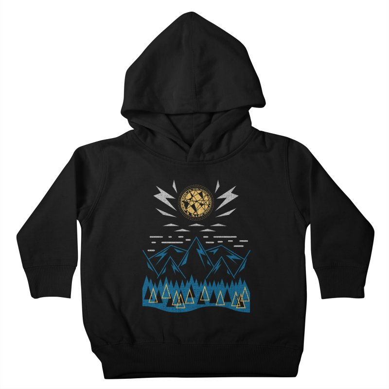 Sun Strike Over the Mountains Kids Toddler Pullover Hoody by Elcorette