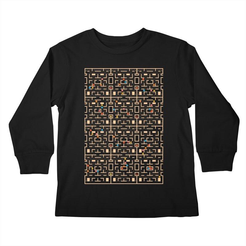 Busy World Kids Longsleeve T-Shirt by Elcorette