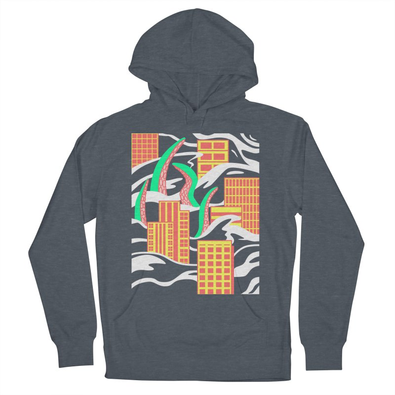 Flooded Men's French Terry Pullover Hoody by Elcorette