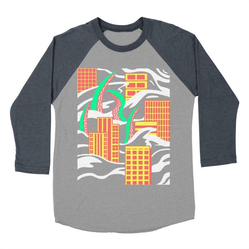 Flooded Women's Baseball Triblend T-Shirt by Elcorette
