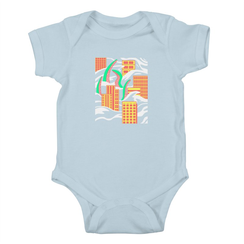 Flooded Kids Baby Bodysuit by Elcorette