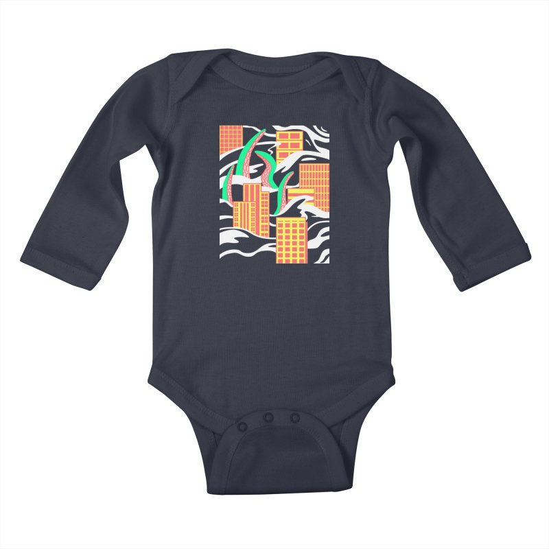 Flooded Kids Baby Longsleeve Bodysuit by Elcorette