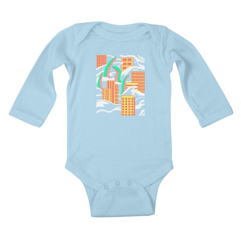 Flooded Kids Baby Longsleeve Bodysuit by Elcorette