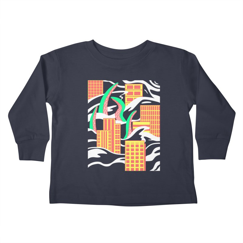 Flooded Kids Toddler Longsleeve T-Shirt by Elcorette
