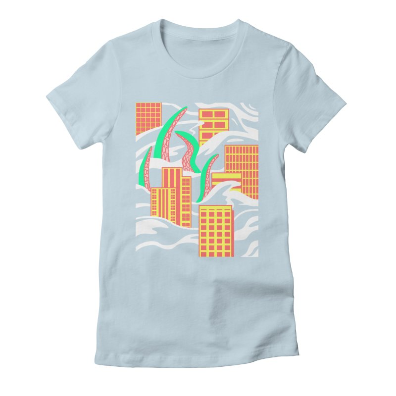 Flooded Women's Fitted T-Shirt by Elcorette