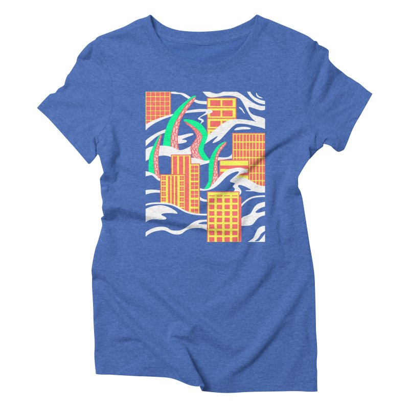 Flooded Women's Triblend T-shirt by Elcorette